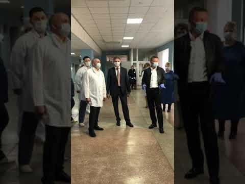 Глава региона Роман Старовойт посетил клинику и поддержал медиков