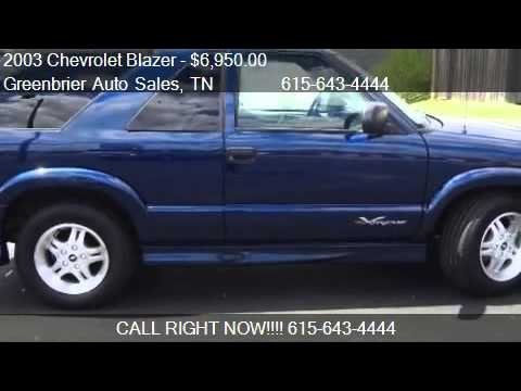 2003 chevrolet blazer 2 door 2wd xtreme for sale in greenb youtube 2003 chevrolet blazer 2 door 2wd xtreme