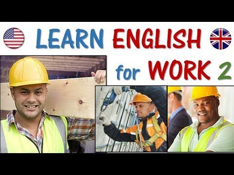 ENGLISH for Work 2 | Construction, Builder, labor, drywall, mason | EASY words and phrases