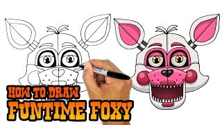 How to Draw Funtime Foxy | FNAF Sister Location