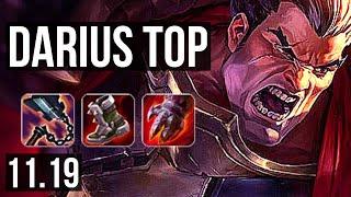 DARIUS vs URGOT (TOP) | 8 solo kills, 1.5M mastery, 700+ games, Godlike | EUW Master | v11.19