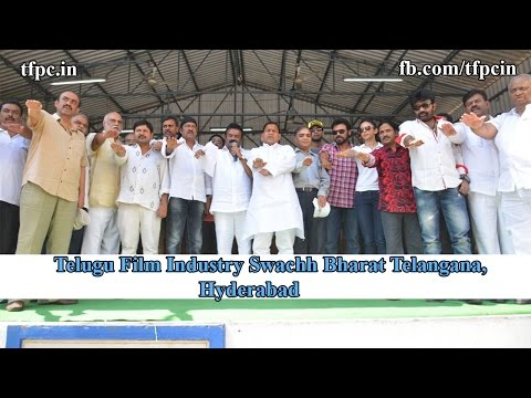 Telugu Film Industry Swachh Bharat Telangana, Hyderabad Full Video