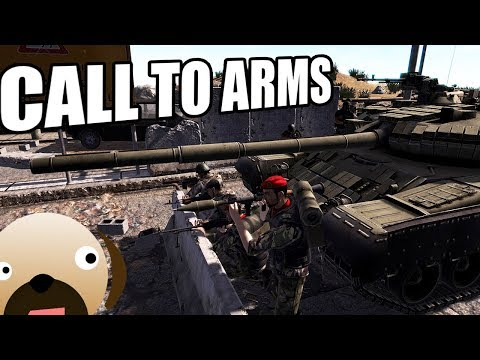 United States Military Engage Middle Eastern Rebel Forces - Call To Arms Gameplay