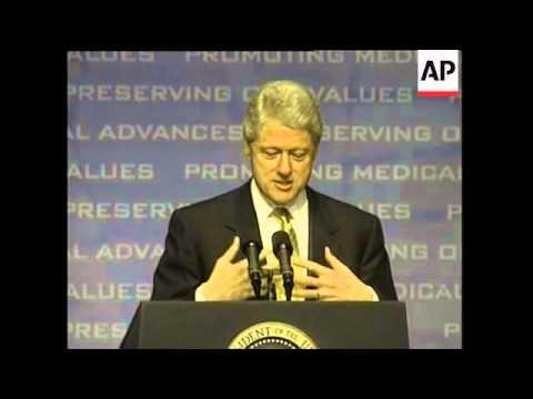 USA: BILL CLINTON ON GENETIC DISCRIMINATION