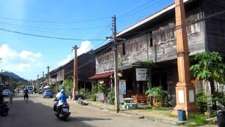 Cruising the mean streets of Lanta Old Town, Thailand