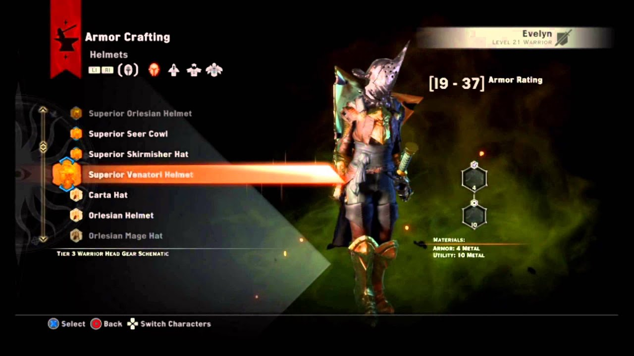 Dragon age inquisition superior batllemaster armor youtube