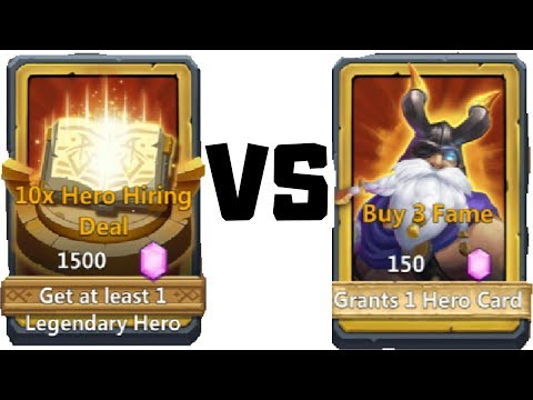 10x Hero Hiring | VS | 10x 150 Hero Hiring | This Is Good | Castle Clash