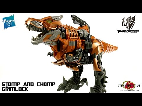 Video Review of the Transformers Age of Extinction: Stomp and Chomp Grimlock