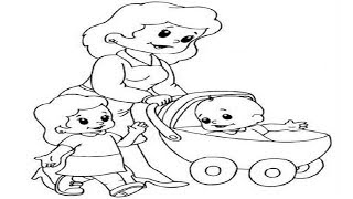 How to Draw a Baby Carriage Stroller Cartoon Simple Drawing Tutorial