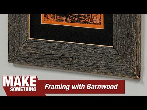 Making a Picture Frame From  Antique Barn Wood | Diresta Print