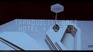 Advertisement for Tranquility Base Hotel + Casino