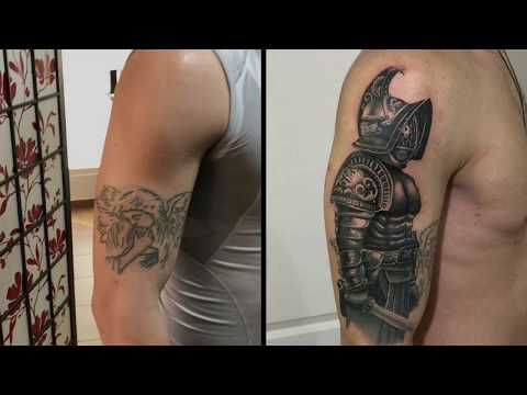 Cover-up: Using Gray Tones- tattoo time lapse(Session 1&2)