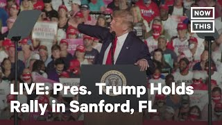 Pres. Trump Holds a Campaign Rally in Sanford, FL | LIVE | NowThis TRUMP HOLDS 'BIG RALLY' IN 'HOUSE ON FIRE': Recently infected Pres. Trump is boasting 'big crowds' in the COVID-19 hotspot of Florida, which has ..., From YouTubeVideos