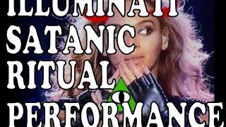 Beyonce's ILLUMINATI SATANIC SUPERBOWL RITUAL PERFORMANCE EXPOSED!!!