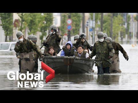 Japan floods: Rescue