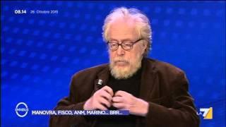 Omnibus - Manovra, fisco, ANM, Marino... Brr... (Puntata 26/10/2015)