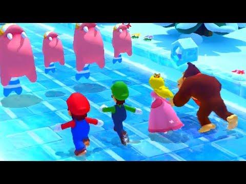 Mario Party 10 - Minigames - Mario vs Luigi vs Peach vs Donkey Kong
