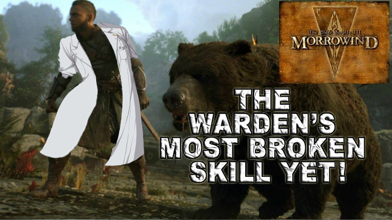 ESO MORROWIND EP2: THE WARDENS MOST OP/BROKEN PVE SKILL!!!