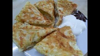 Готовим сытный завтрак, вкусные сырные лепешки!