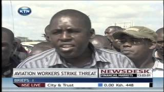 Kenya aviation workers union demand recognition by trade winds aviation services