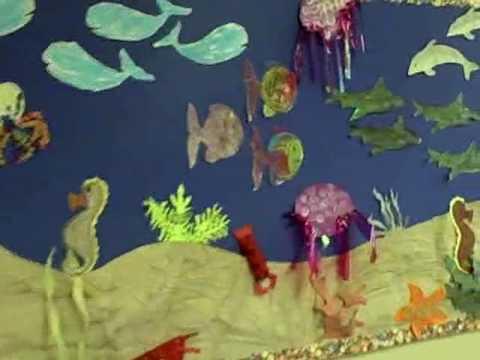 Ideas for preschool sea creature youtube for Sea life arts and crafts