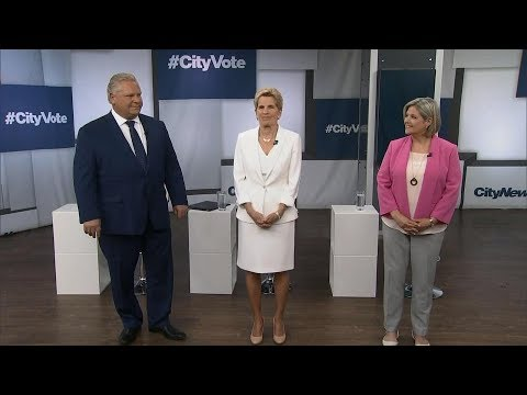 The first Ontario election debate in under three minutes