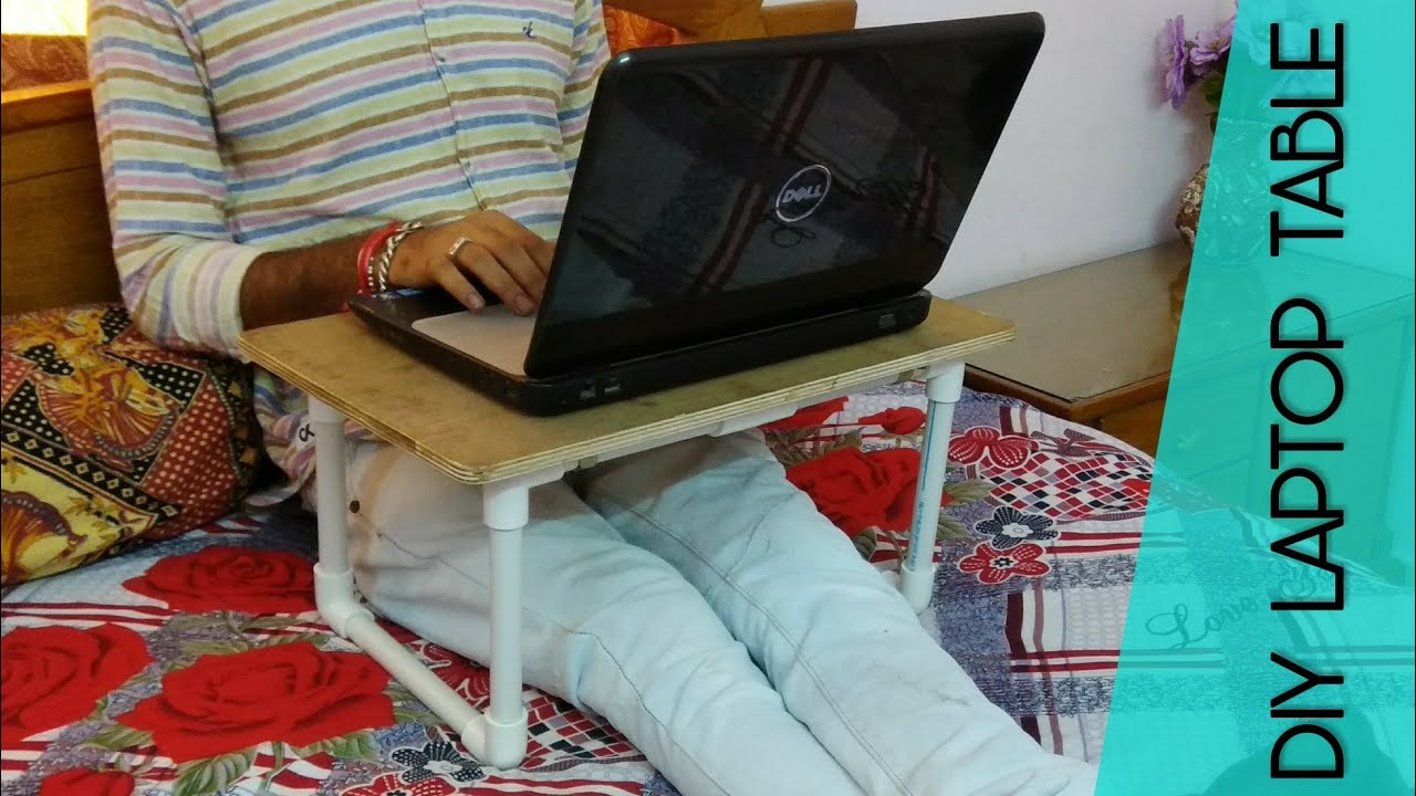 Make A Laptop Stand Diy Laptop Table Youtube