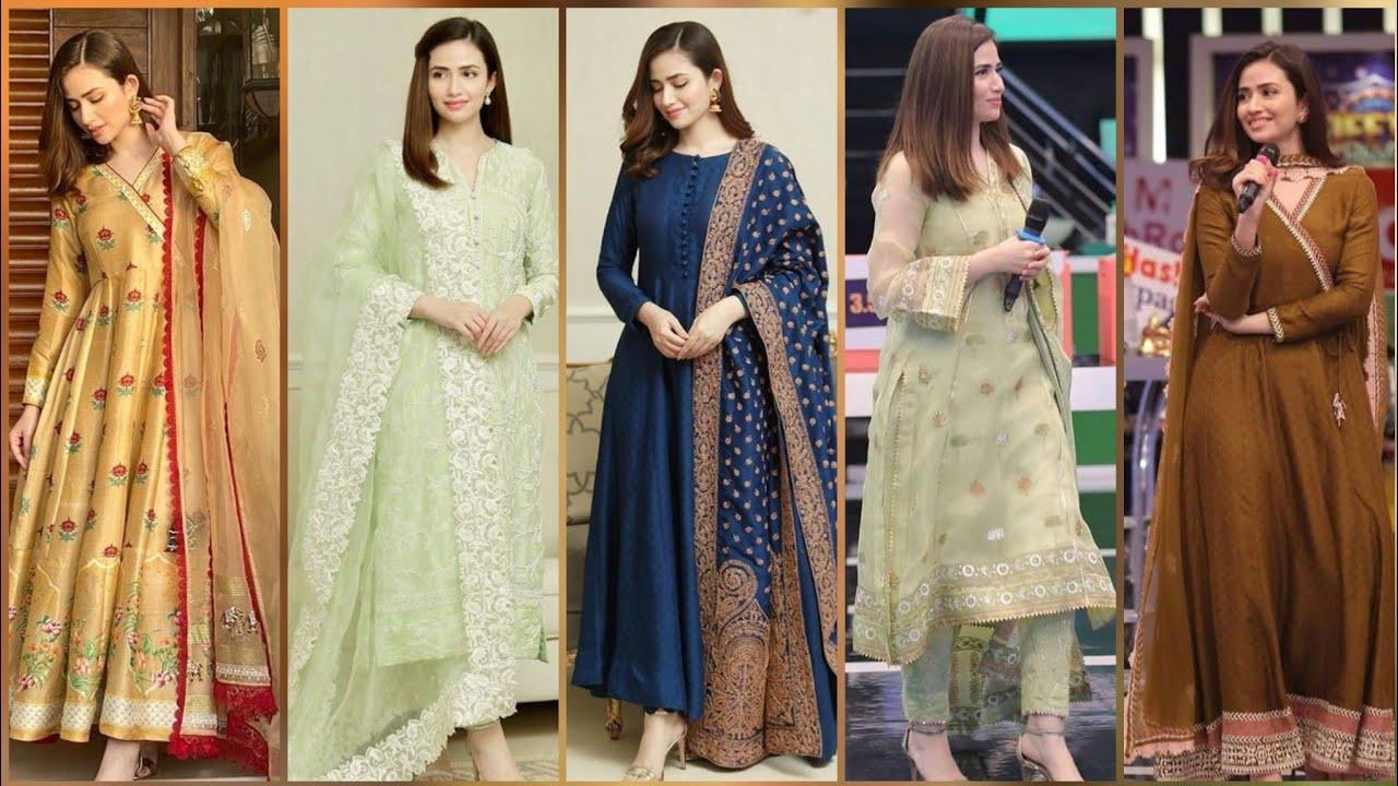 Beautiful actress Sana Javed dressing designs//beautiful dress design for girls