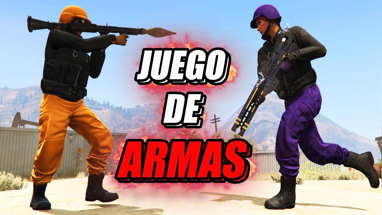 JUEGO DE ARMAS En GTA 5   GTA V Online - YouTube