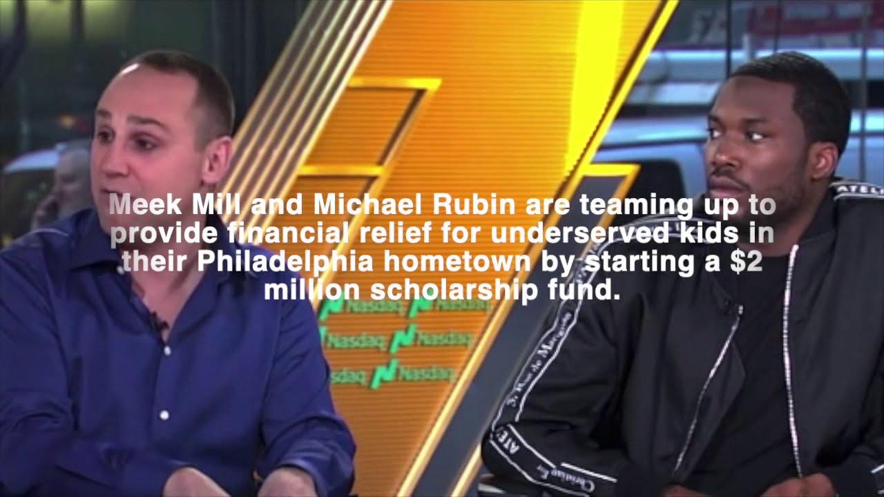 Meek Mill & Michael Rubin Start $2 Million Dollar Scholarship Fund