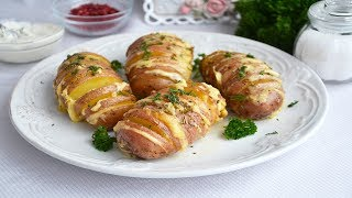 Картошка гармошка с сыром