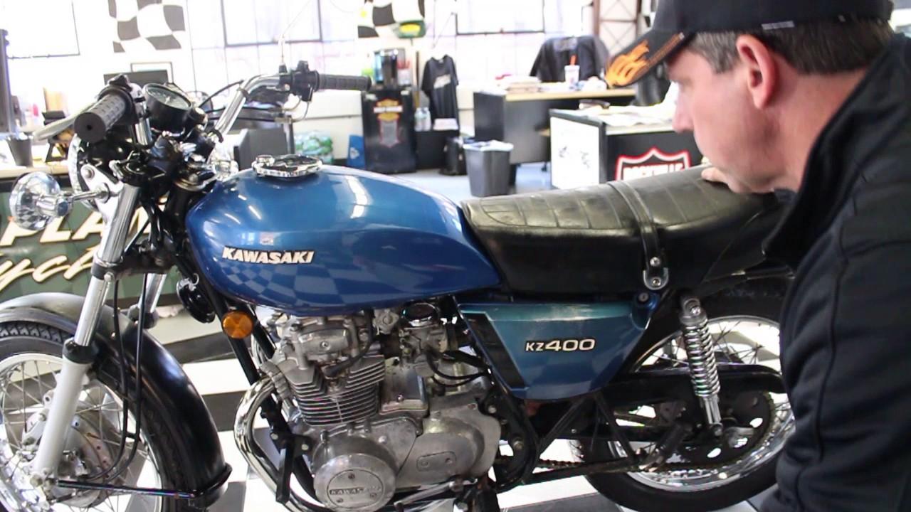 1976 Kawasaki KZ400 S2 - YouTube