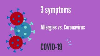 Coronavirus symptoms vs Allergy symptoms