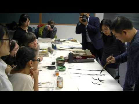 Bamboo---Mr, Dawei Sun's painting class in Yale, 2013, Color and Line, 耶魯中國書畫社