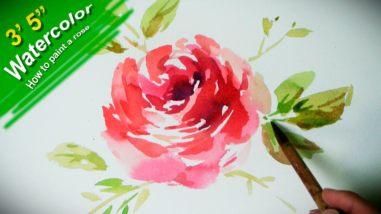 How to paint a flower with watercolor Jay Art
