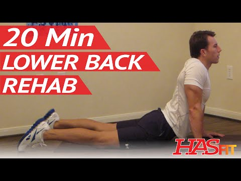 20 Min Lower Back Rehab - Lower Back Stretches for Lower Back Pain Exercises Workouts - Low Back