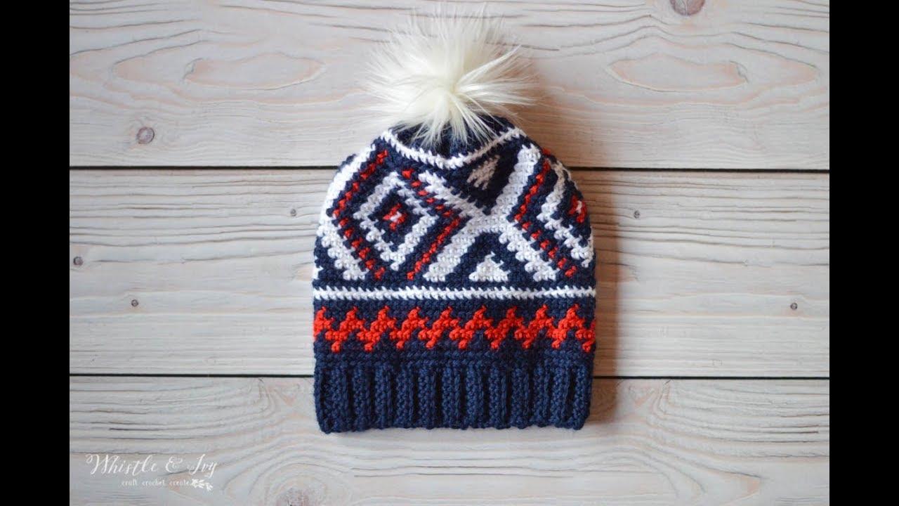 f61612bd6fa3 CROCHET TUTORIAL: Crochet Neva Hat (Team USA Olympics Uniform Hat)