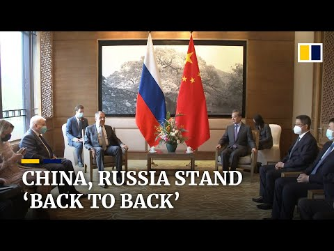 China, Russia foreign ministers meet as countries stand 'back to back' amid rise in US tensions
