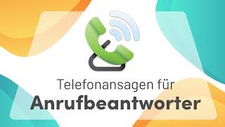 Anrufbeantworter-Ansagen für Unternehmen