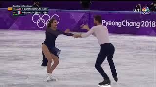 2018 OG 05 I-FD Papadakis Cizeron - Moonlightsonata Beethoven NBC  no commentary