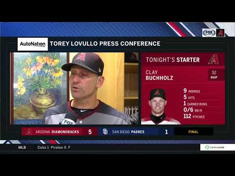 D-backs manager Torey Lovullo post-game, Aug. 16 (5-1 win vs Padres)