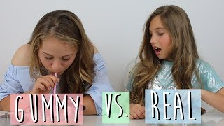 Gummy vs Real Food Challenge