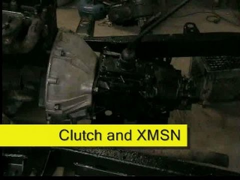 Jeep CJ transmission swap Auto to Manual