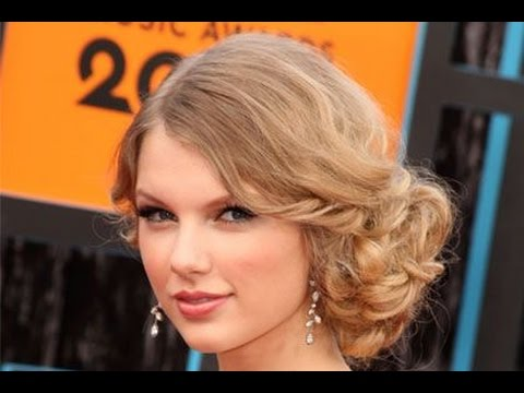 TAYLOR SWIFT SIDE  SWEPT BUN HAIR TUTORIAL