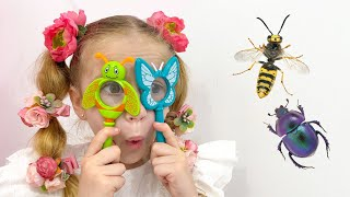 Nastya learn insects with her dad
