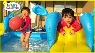 Kids Family Fun Pool Playtime with Emma and Kate!!!!