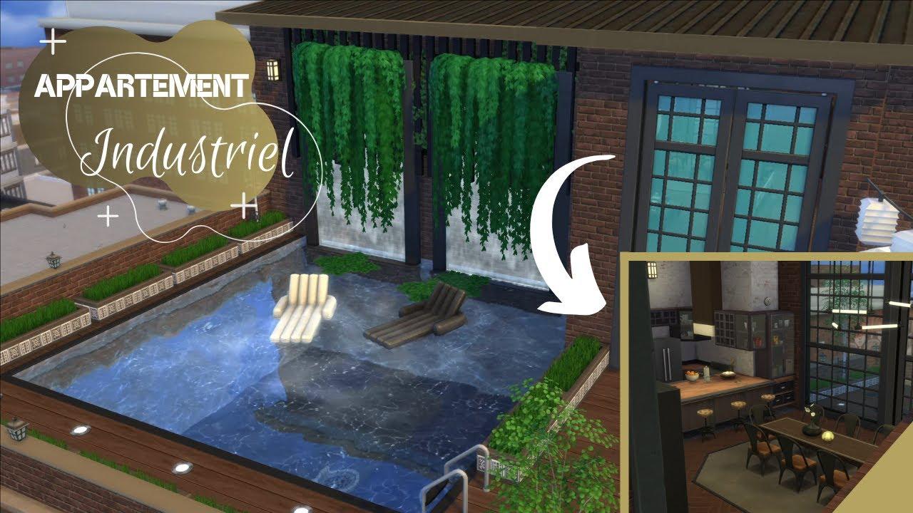 Appartement Industriel Appartement Terrasse Bellevue Speedbuild Sims 4 Youtube