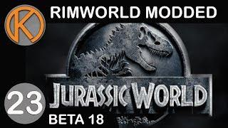RimWorld Beta 18 Modded   SPINOSAURUS' ATTACK - Ep. 23   Let's Play RimWorld Beta 18 Gameplay