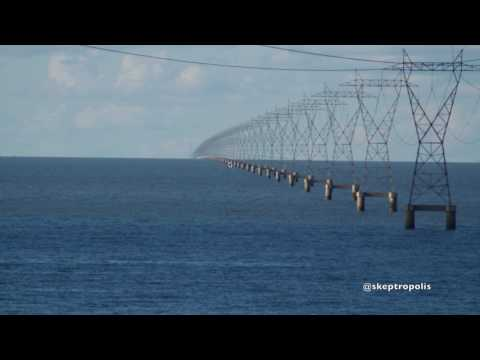 Curved Water 4 Follow Up - Lake Pontchartrain - Electrical Transmission Pylons - (Debunk Flat Earth)