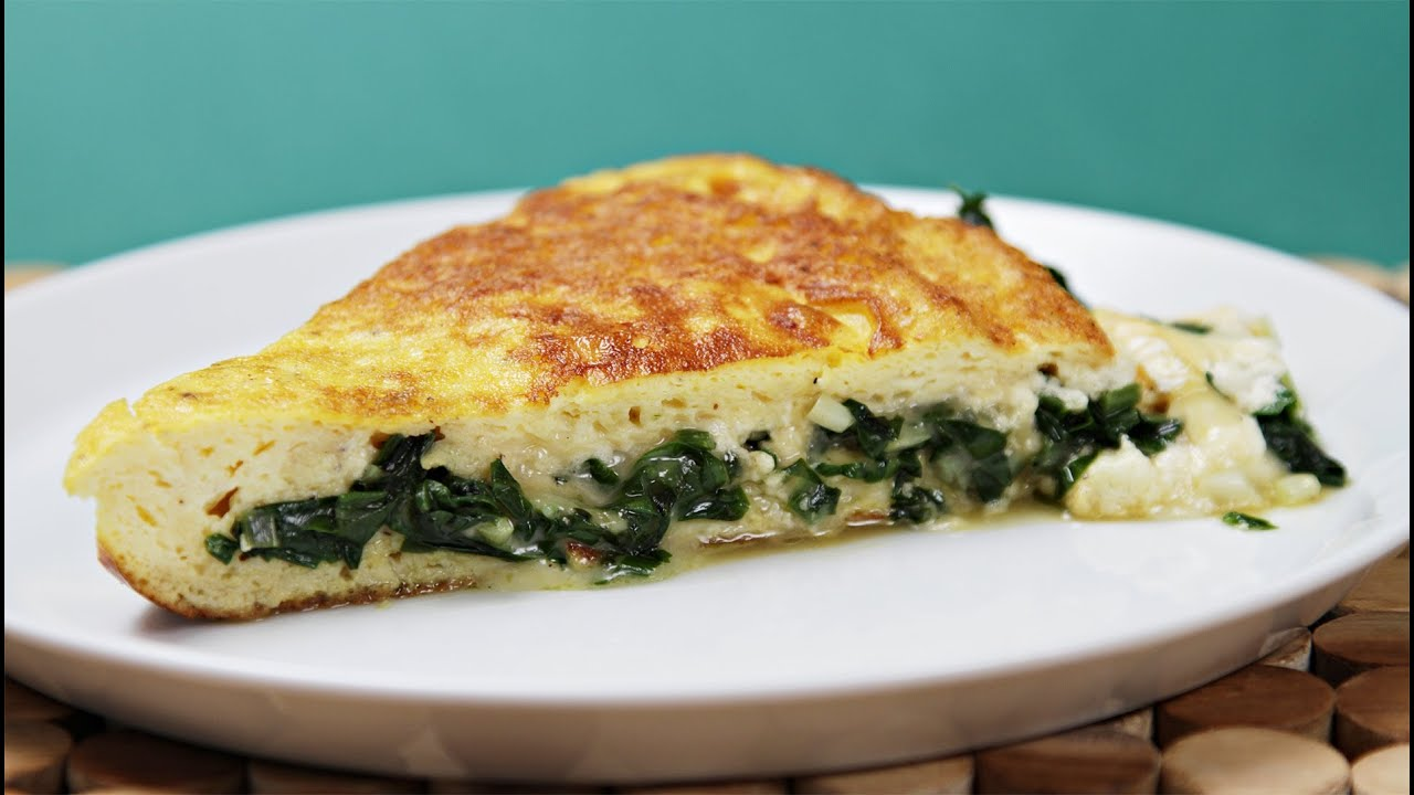 Soufflé Omelette with Robiola & Sautéed Ramps - YouTube